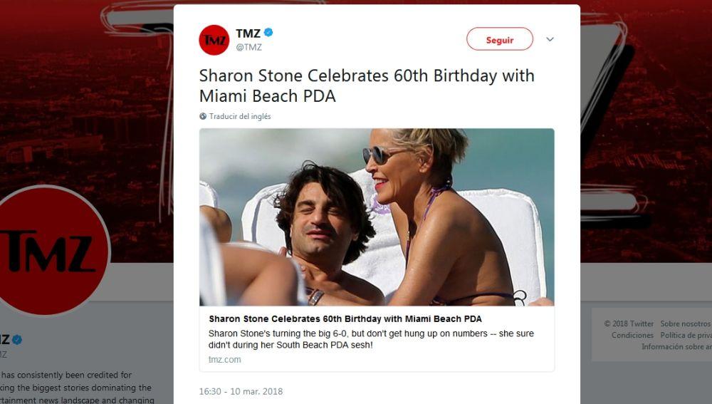 Sharon Stone celebra su 60 cumpleaños