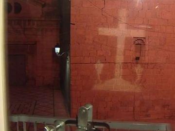 Cruz de los caídos proyectada en Callosa de Segura
