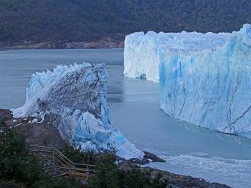 Vista parcial del glaciar Perito Moreno, en El Calafate (Argentina)