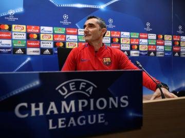 Valverde, en la rueda de prensa