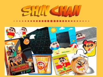 Consigue este lote con productos sobre Shin Chan