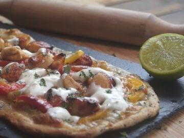 Flatbread de pollo