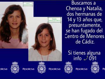 La Policía Nacional busca a dos hermanas desaparecidas