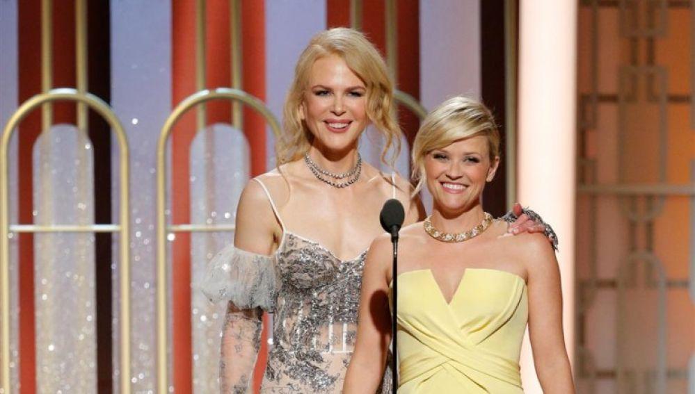 Nicole Kidman y Reese Witherspoon en la fiesta de HBO