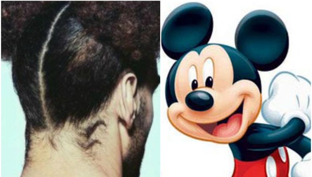 Nuevo 'look' de Fellaini a lo Mickey Mouse