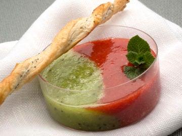 Sopa de fresa y kiwi