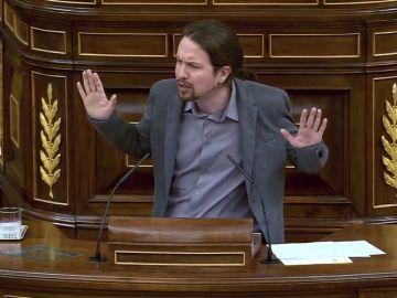 """Iglesias le pide a Rajoy """"empatía"""" con españoles """"que se han matado a trabajar"""" y merecen pensiones dignas"""