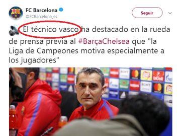 El error del Barça con Ernesto Valverde