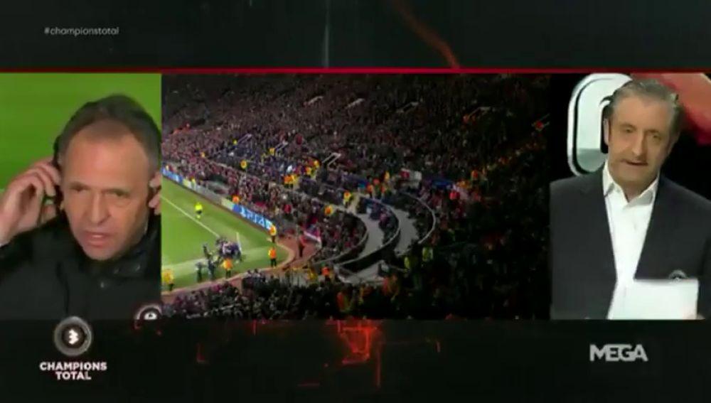 """El momentazo de Pedrerol con Caparrós en Champions Total: """"No te oigo Josep…"""""""