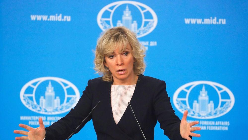 María Zajárova, portavoz del Ministerio de Asuntos Exteriores ruso