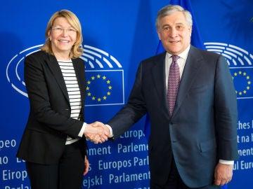Luisa Ortega con Tajani