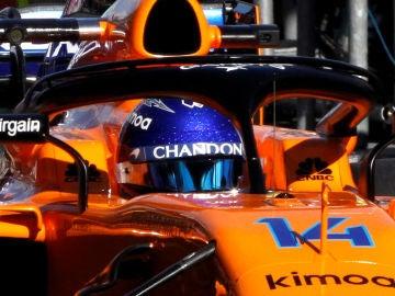 Fernando Alonso, en el McLaren MCL33