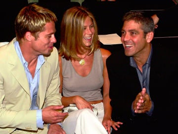 Brad Pitt, Jennifer Aniston y George Clooney