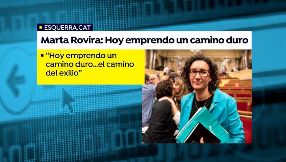 Marta Rovira anuncia en una carta que se va de España