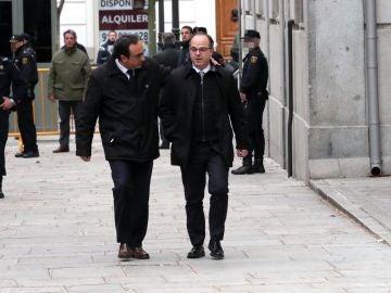 Los diputados de JxCat, Jordi Turull y Josep Rull