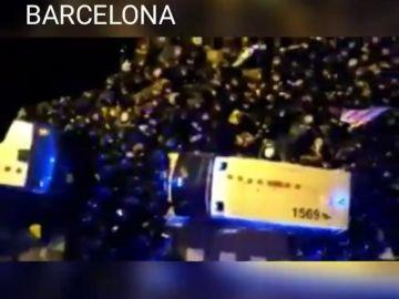 Las protestas junto a Delegación Gobierno en Barcelona de la noche del viernes dejan 35 heridos