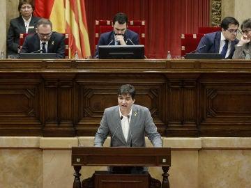 Sergi Sabrià en el Parlament