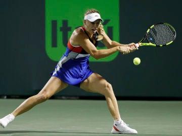 Caroline Wozniacki en el torneo de Miami