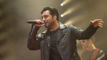 David Bustamante durante el primer concierto tras su divorcio de Paula Echevarría