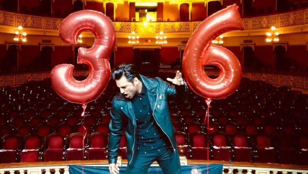 David Bustamante en su cumpleaños