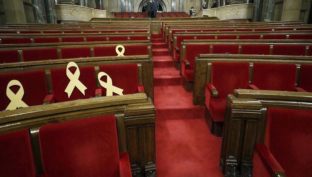 El Parlament de Cataluña vacío