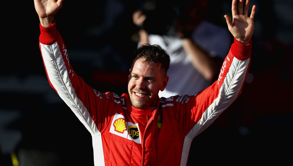 Sebastian Vettel festeja una victoria