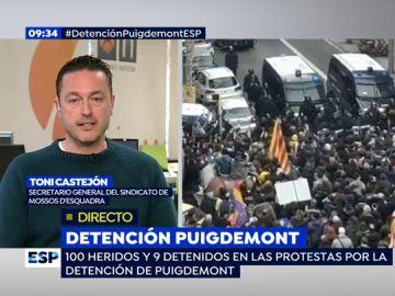 Toni Castejón, secretario general del Sindicato de los Mossos d'Esquadra
