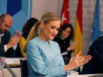 Cristina Cifuentes en la reunión del Comité Ejecutivo del PP de Madrid