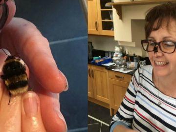 Fiona Presly y su abeja