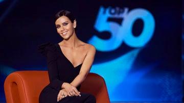 Cristina Pedroche en el plató de 'Top 50'