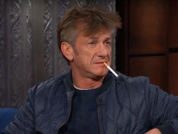 Sean Penn en el programa de Stephen Colbert