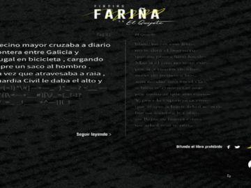 El juez ordena eliminar la web de los libreros que permitía leer fragmentos de 'Fariña' a través de 'El Quijote'