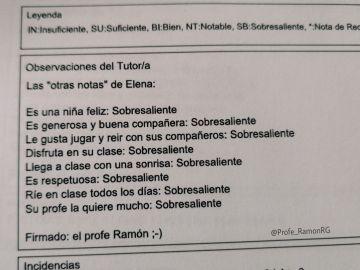 """Las """"otras notas"""" del profe Ramón"""