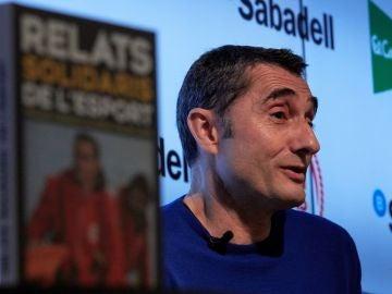 Ernesto Valverde, en un acto publicitario
