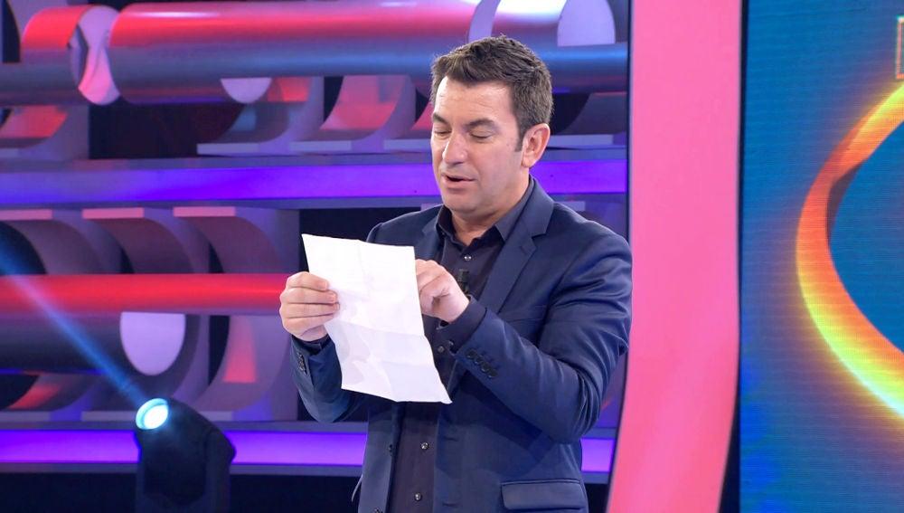 La carta de un fan de '¡Ahora Caigo!' a Arturo Valls