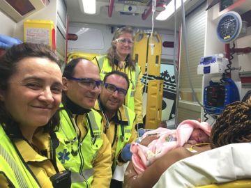 Nacimiento del bebé en la madrileña M-30