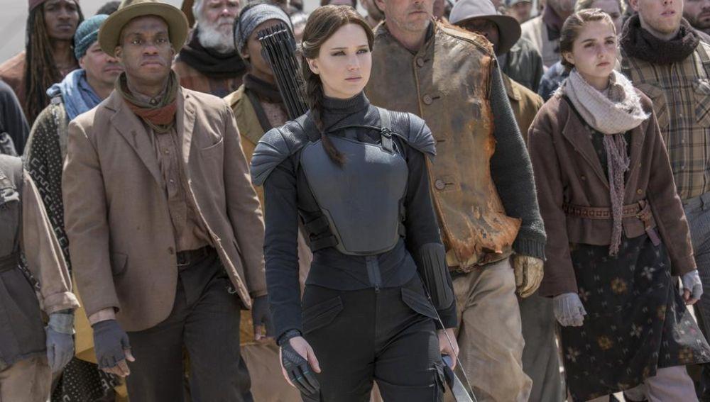 Katniss en 'Los Juegos del Hambre - Sinsajo'