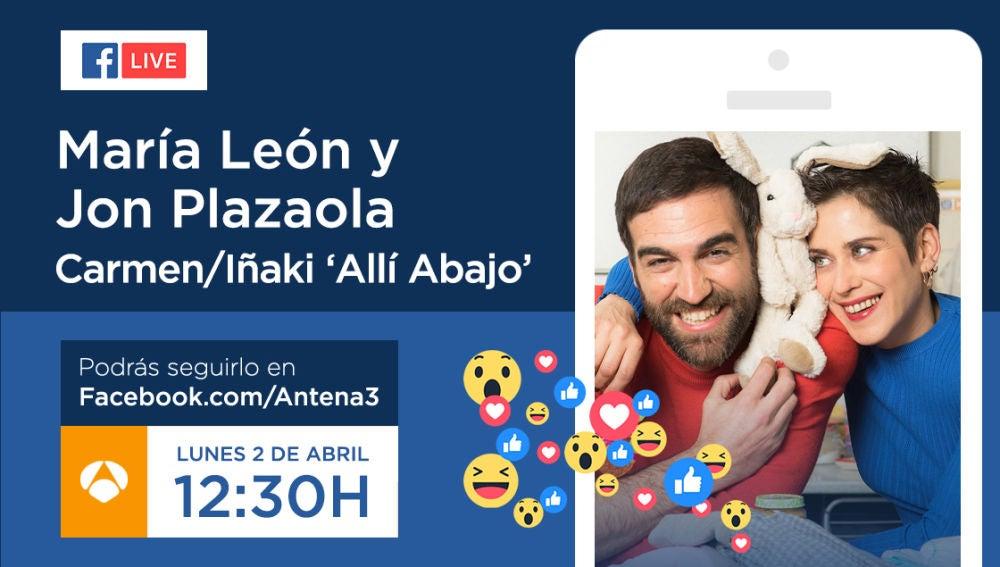 Jon Plazaola y María León, el lunes a las 12:30 en Facebook Live