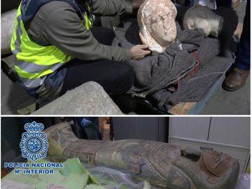 Detenido anticuario Barcelona por vender piezas robadas en Libia por el Daesh