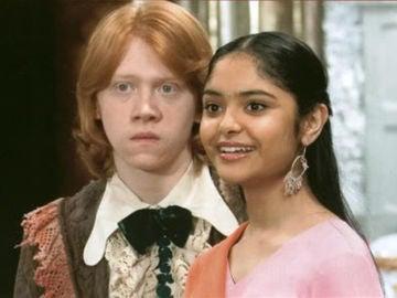 Ron Weasley y Padma Patil en 'Harry Potter y el Cáliz de Fuego'