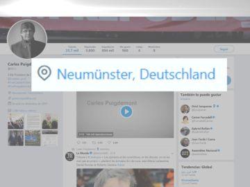 Puigdemont actualiza su perfil de redes sociales