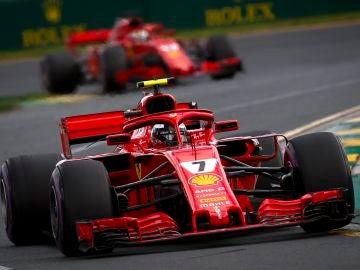 Kimi Raikkonen, durante el GP de Australia