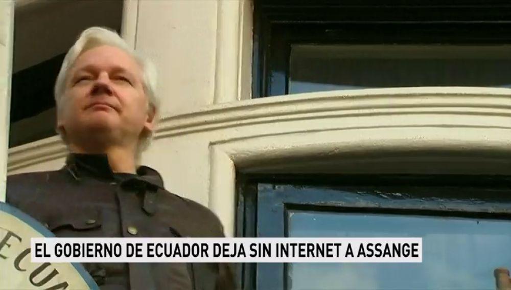 El gobierno de Ecuador deja sin internet a Assange
