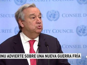 """La ONU advierte de que el mundo avanza hacia una situación """"similar"""" a la de la Guerra Fría"""