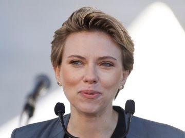 Scarlett Johansson en la Marcha de las Mujeres