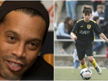El ahijado de Ronaldinho ya deslumbra en un torneo de alevines