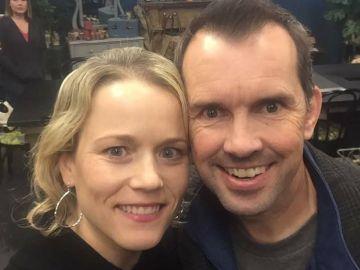 Celese Erlach junto a su marido