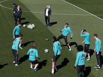 Último entrenamiento del Madrid antes de medirse a Las Palmas