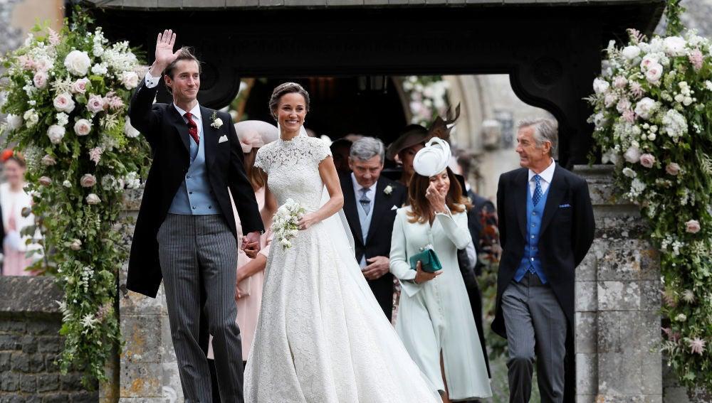 David Matthews en la boda de Pippa Middleton