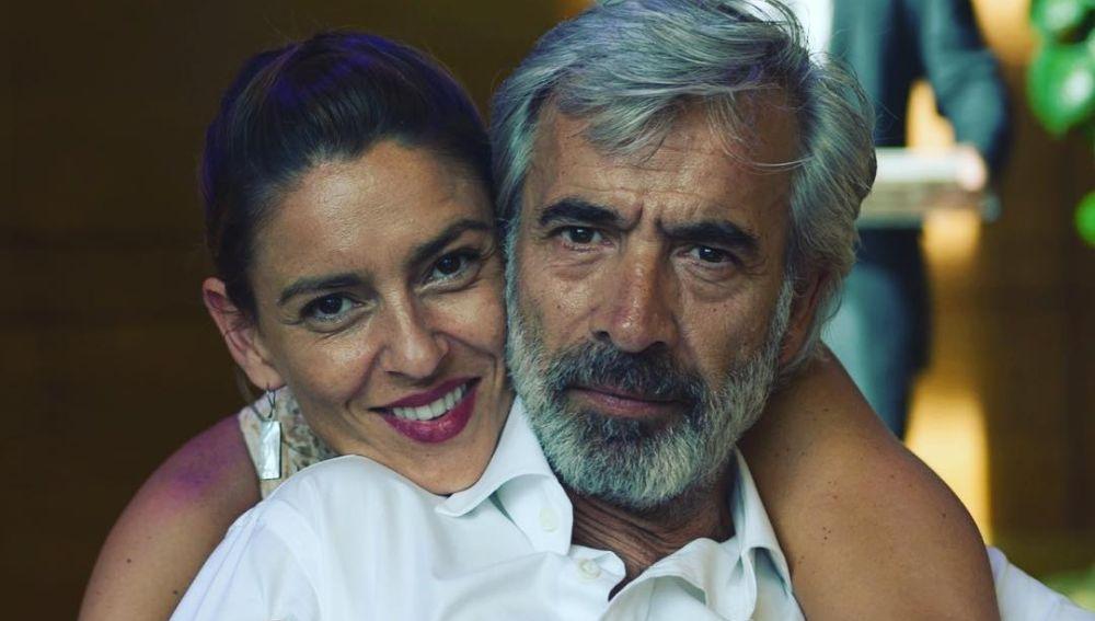 Imanol Arias e Irene Meritxell